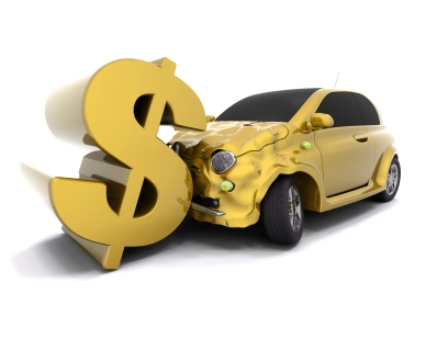 car crash and dollar sign istock