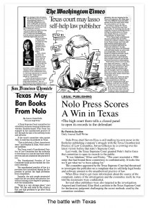 Headlines feature Nolo-Texas Battle